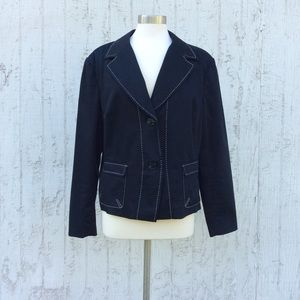 Worthington 2 button Navy blazer Size 18